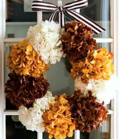 Hydrangea Wreath fall diy craft crafts fall crafts hydrangea wreath fall decor ideas decor for fall diy fall decorations Easy Fall Wreaths, Diy Fall Wreath, Fall Diy, Elegant Fall Wreaths, Easy Fall Crafts, Halloween Wreaths, Summer Wreath, Fall Halloween, Diy Ombre