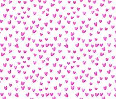cestlaviv_pink hearts  fabric by cest_la_viv on Spoonflower - custom fabric