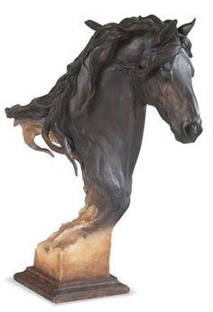 Friesian Horse Sculpture.