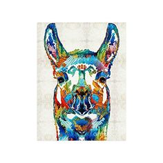 Cute Hipster Llama Collage Poster Paper Print Wall Art Living Room Home Office Decor 18 x 24 * Find out more about the great product at the image link.
