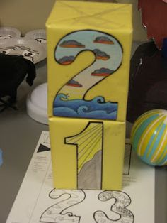 Creation Blocks ... a fun developmental toy for toddlers and preschoolers during a creation unit (Genesis 1)