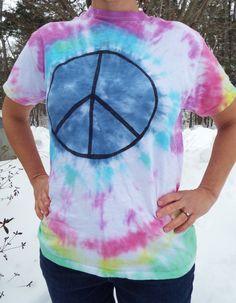 Peace sign tie dye adult M #CreationsByMaris