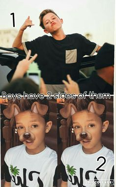 Boys have 2 sides to them but I think he's perfect both ways @jacobxsartorius