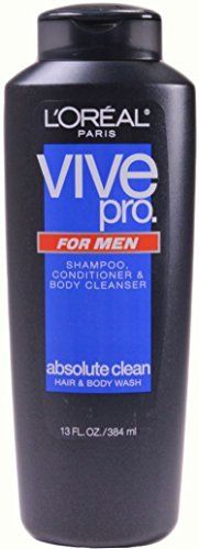 Loreal Paris Vive Pro for Men Shampoo Conditioner and Body Cleanser 13 Ounce Pack of 6 *** See this great product.(This is an Amazon affiliate link and I receive a commission for the sales) #ShampooPlusConditioner