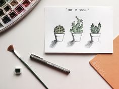 #cactus#plant#green#watercolor