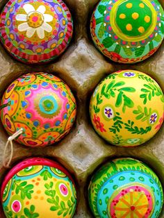 24 Easter Egg Designs To Dye For | SPRING FLOWERS | These tiny works of art are hand-painted from top to bottom with colorful scenes of spring. The artist never makes the same design twice – and neither should you!