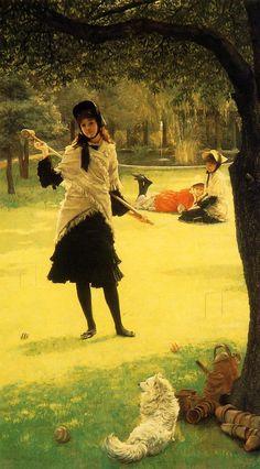 """Croquet"".  (by James Tissot)."