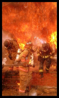 Firefighter Live fire training.