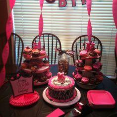 Sweet sixteen cupcake table