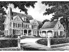 Country House Plan with 3915 Square Feet and 4 Bedrooms(s) from Dream Home Source | House Plan Code DHSW56522