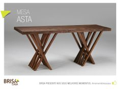 MESA ASTA Produzida com madeira de demolição.