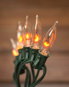 our flickering flame string lights dance into the holiday season with their faux flame light
