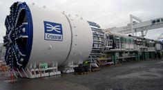 Crossrail's first tunnel boring machine unveiled, December 2011