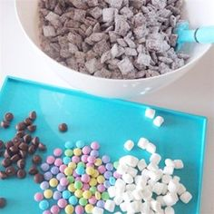 "Puppy Chow | ""What an easy way to make delicious snacks for a large group! And it's SOOO good!"""
