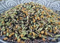 Panchphoran: Another Indian Spice Mix - Urban Cottage Life Spice Blends, Spice Mixes, Urban Cottage, Vinaigrette, Sauces, Seeds, Indian, Vegetables, Cooking