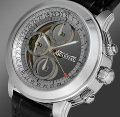 Quinting Transparent Watch. Sapphire crystal discs indicate time. #watches #mens accessories