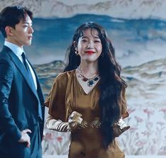 "Timeless Glamour: Inside IU's Hauntingly Beautiful Fashion From ""Hotel Del Luna"" - KpopHit - Kpop Hit Iu Hair, Korean Girl, Asian Girl, Luna Fashion, Gifs, Korean Actors, Korean Dramas, Korean Actresses, Glamour"