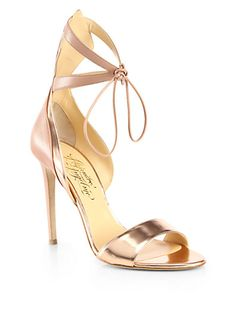 Alejandro Ingelmo - Culebra Leather Ankle-Strap Sandals - Saks.com