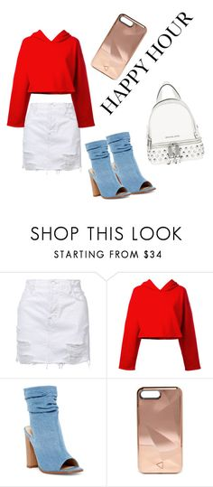 """Happy Hour"" by kamerondiggs on Polyvore featuring J Brand, Golden Goose, Liliana, Rebecca Minkoff and Michael Kors"