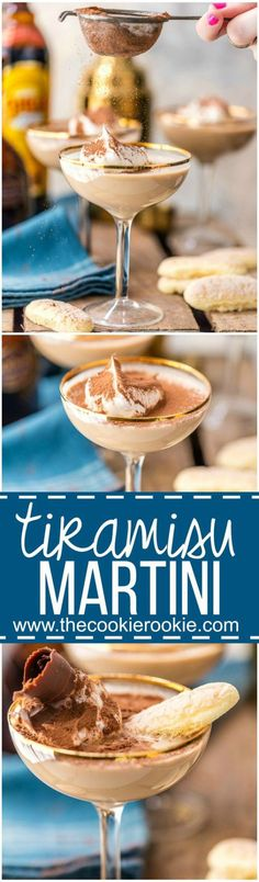 The Boozy Decadence of the Tiramisu Martini We love dessert cocktails! An easy Tiramisu Martini is one of my favorite party drinks, so creamy and delicious! Coffee, chocolate, cream, all the best flavors! Dessert drinks at its best! Cocktail Desserts, Holiday Drinks, Dessert Drinks, Summer Drinks, Cocktail Drinks, Fun Desserts, Bourbon Drinks, Coffee Cocktails, Christmas Drinks
