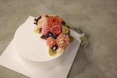 Korea flower cake #가을컨셉 #달다테이블 #daldatable #앙금플라워케익