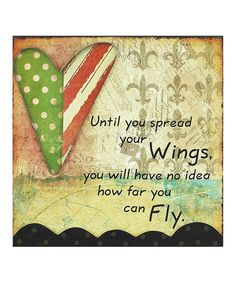 Love this 'Spread Your Wings' Gallery-Wrapped Canvas on #zulily! #zulilyfinds