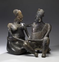 Conjoined figures-Ancient America's- constitute an infrequent but not unknown narrative type of West Mexican tomb sculptures.Jalisco-100 BC-AD 300