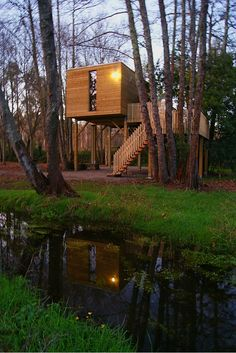 Cabañas en árboles, alojamiento turismo rural en cabañas de madera.  #cabanitasdelbosque #turismorural