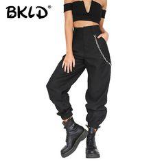 daf0237eadfef BKLD Summer 2019 Female High Waist Harem Pants Women Fashion Slim Solid  Color Long Pants Hip