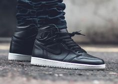 """sweetsoles: Nike Air Jordan 1 'Cyber Monday' (by. – sweetsoles: """"Nike Air Jordan 1 'Cyber Monday' (by casperbrazi) """" Me Too Shoes, Men's Shoes, Shoe Boots, Shoes Sneakers, Black Shoes, Nike Heels, Converse, Adidas, Sneakers Fashion"""