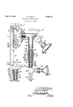 Patent US1758115 - Adjustable shower fixture Shower Fixtures, Patent Pending