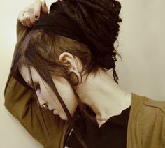 shaved side dreads septum. Just kill me now!!!!! I WANT THIS