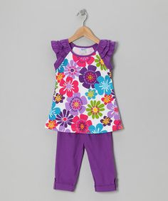 G&J Relations Purple Daisy Tunic & Leggings - Infant, Toddler & Girls by G&J Relations #zulily #zulilyfinds