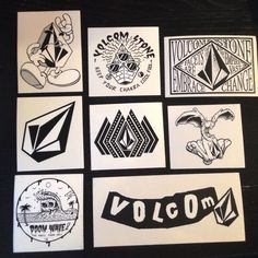 set of 8 ✨ volcom skate snowboard stickers price is less than half of  retail… 231de31adda
