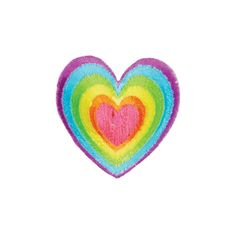 Rainbow Heart Iron On Applique, Rainbow Iron On Patch, Heart Patch, x inches by TheArtofAppliques on Etsy Tumblr Stickers, Cute Stickers, Rainbow Heart, Collage Book, Iron On Applique, Cool Patches, Glitch Art, Cute Icons, Applique Designs