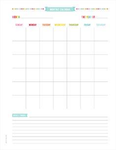 UNPLAN PLANNER PAGES » MissTiina.com {Blog}