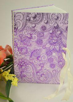 Journal Diary Memory Book  Purple Messenger by CottonandEmbers