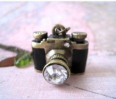 Whimsy Camera Necklace by lunashineshine on Etsy
