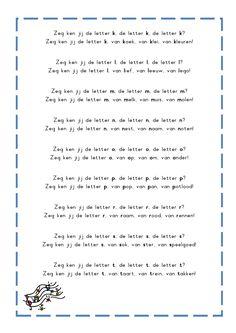 * Letterliedjes op de wijs van: Zeg ken jij de mosselman. De letter v van vlees van vuur van vulkaan Letter School, Letter V, Spelling, Poems, Homeschool, Singing, Language, Classroom, Teaching