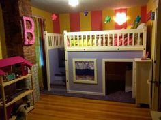 This cute DIY dollhouse bunk bed has storage in the steps and plenty of room for toys inside. See what else you can achieve with a little sweat equity on our Pinterest board Most Fun Kid Spaces. | thisoldhouse.com