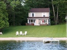Traverse City Cottage Rental: Gorgeous Long Lake Cottage * Hot Tub And Private Sandy Beach   HomeAway
