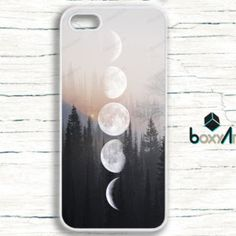 iPhone Case - Moon Phases on Wood Image - iPhone 4/4s iPhone 5 iPhone 5c iPhone 5s iPhone 6 iPhone 6 Plus iPhone 6s iPhone SE