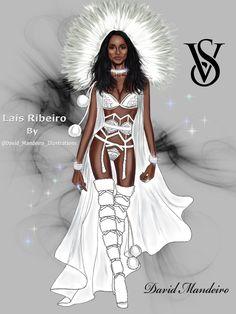 Lais Ribeiro for Victoria's Secret Fashion Show 2015 by David Mandeiro.