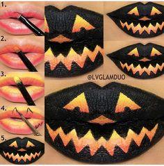 15 Paso a paso para pintar tus labios este Halloween ⋮ Es la moda