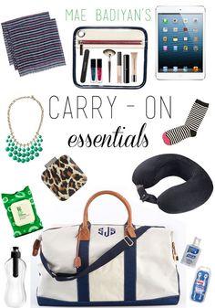 Mae Badiyan: Essentials for my carry-on bag