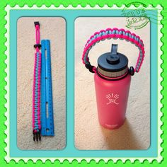 My first hydroflask paracord handle for my daughter's hydroflask.