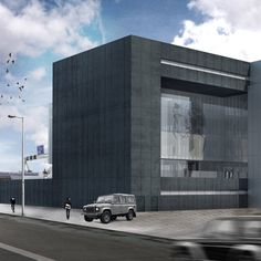 Construction has begun on the new OMA-designed headquarters for fashion brand G-Star RAW in Amsterdam, which will feature a facade that slides open