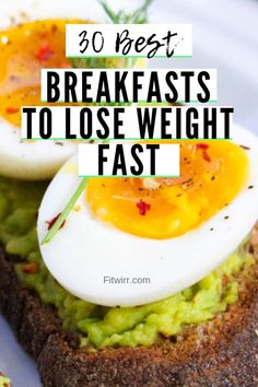 30 best breakfast ideas to lose weight fast. Weight loss recipes focused on brea… 30 best breakfast ideas to lose weight fast. Weight loss recipes focused on breakfasts. These healthy breakfast ideas are well balanced nutritionally and weight loss driven. Healthy Meal Prep, Easy Healthy Recipes, Healthy Snacks, Healthy Eating, Eating Clean, Keto Recipes, Cod Recipes, Healthy Breakfasts, Cookie Recipes