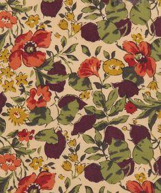 Liberty Art Fabrics Poppy and Honesty P Tana Lawn | Fabric by Liberty Art Fabrics | Liberty.co.uk