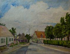 Bondebyen i Kongens Lyngby cirka 1962. Maleri af Anker Legaard Painting, Art, Anchor, Art Background, Painting Art, Kunst, Paintings, Performing Arts, Painted Canvas